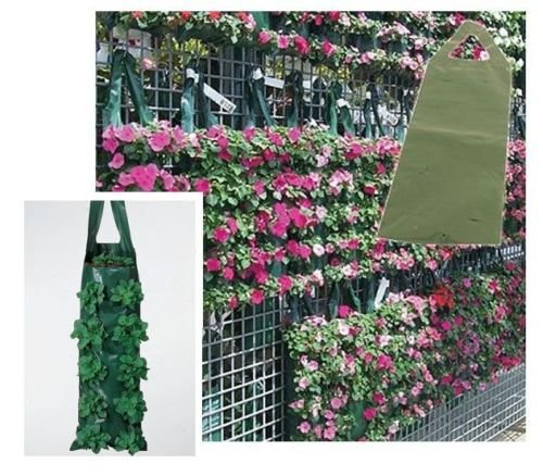 4 x Strong Hanging Planter Grow Bag / Pouch / Ideal for growing Tomato / Herbs / Flowers / Strawberries S&MC Gardenware