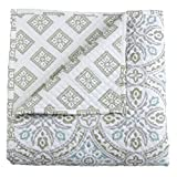 Stylemaster Home Products Twill and Birch Lucca Quilted Reversible Bedspread, Queen, Moss