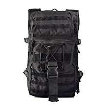 YAKEDA® Commando series 45L Camouflage shoulders Field Backpack Outdoor Military Rucksacks men and women casual Camping Backpack Tactical Backpack computer bag waterproof camouflage military mountaineering bags 45L--A88050