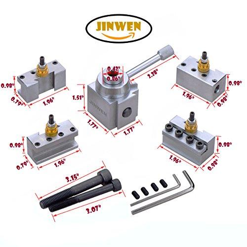 Jinwen 120018 Tooling Package Mini Lathe Quick Change Tool Post & Holders Multifid Tool Holder (Steel) by JINWEN (Image #1)