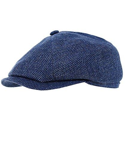 Stetson Men's Woven Linen Blend Hatteras Newsboy Cap 59cm ()
