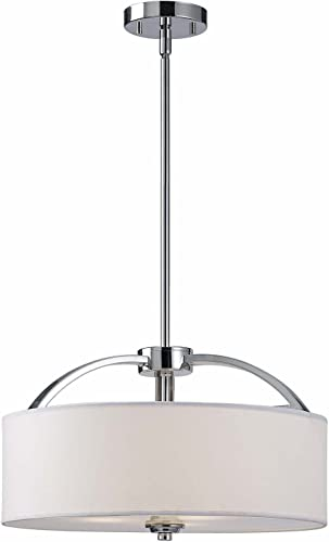 Canarm ICH425A03CH16 Milano 3-Light Rod Chandelier