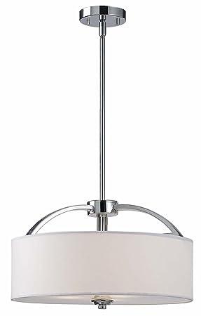 Canarm ICH425A03CH16 Milano 3-Light Rod Chandelier, 16.25 x 16.25 x 60.5 , Chrome