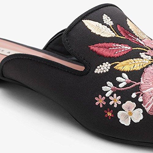 Mujeres Zhirong Solos Zapatos De Primavera Y Flores Negro Bordado De Verano Tipo De Cosecha De La Boca Baja Un Zapato (tamaño: Eu36 / Uk4 / Cn36) Vendible kxqhlhhh