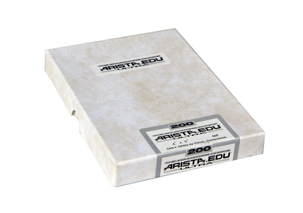 Arista EDU Ultra 200 ISO Black & White Film, 4x5, 50 Sheets