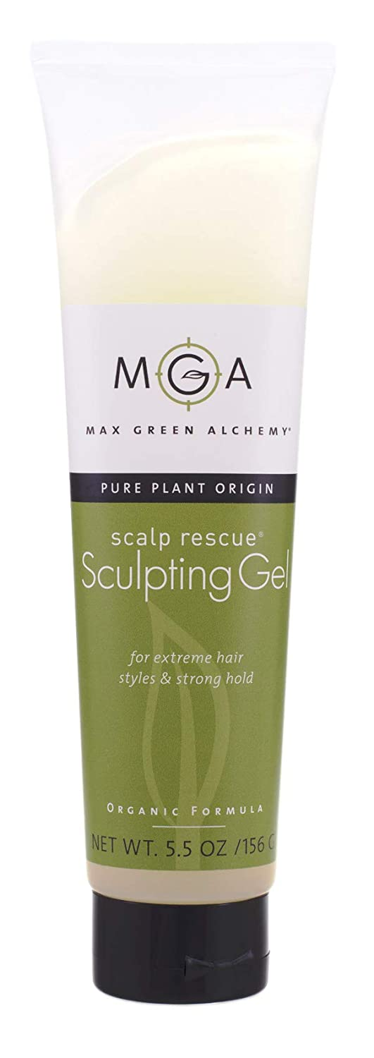 Scalp Rescue Sculpting Gel Tube - 5.5 Ounces - Organic Formula For Extreme Hair Styles and Hold, Hard, Natural, Organic, Protection Against Flyaway and Frizz, Vegan, Color Safe