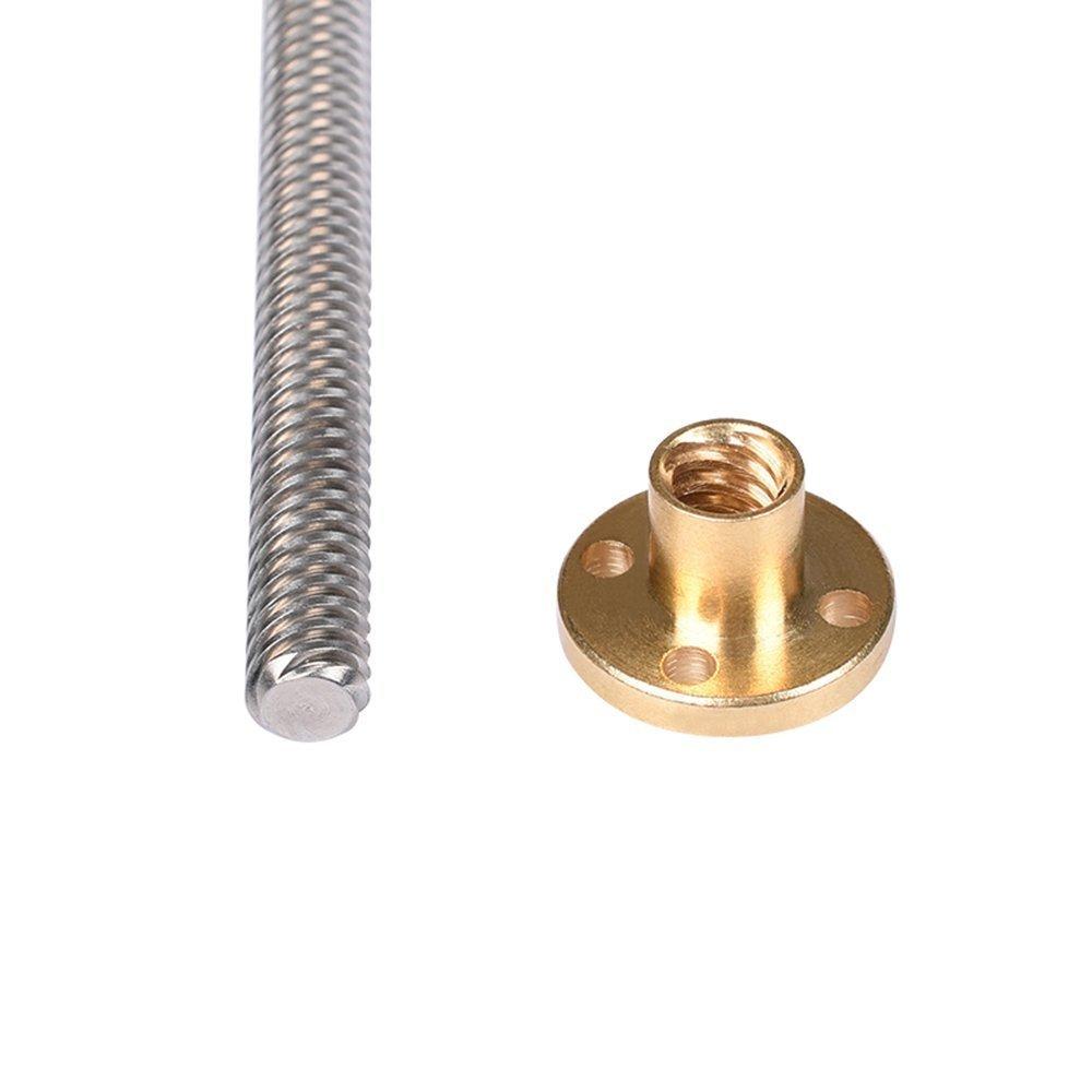 WINGONEER 300MM T8 Lead Screw Set Lead Screw Copper Nut Pillow Bearing Block for 3D Printer WINGONEER® Coupler