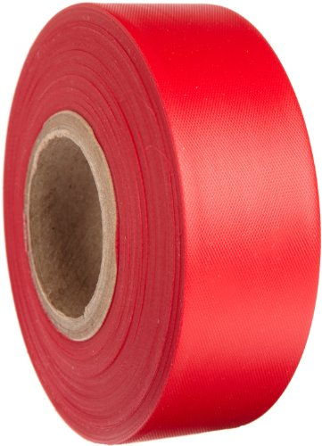 (Brady Red Flagging Tape for Boundaries and Hazardous Areas - Non-Adhesive Tape, 1.188