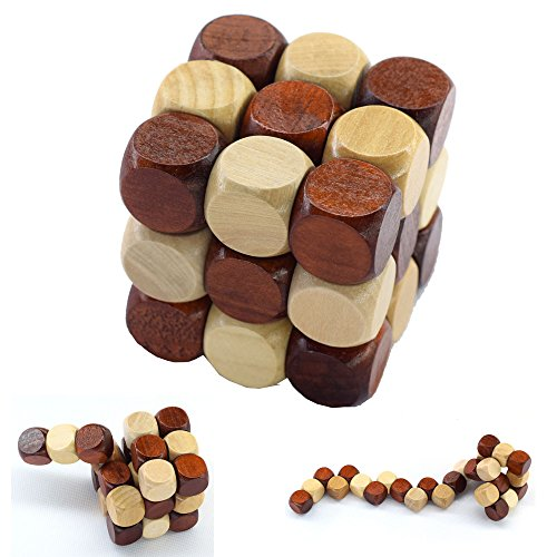 3D Wooden Puzzle Novelty Snake Shape Toys Magic Cube IQ Mind Game For Children ZG0132