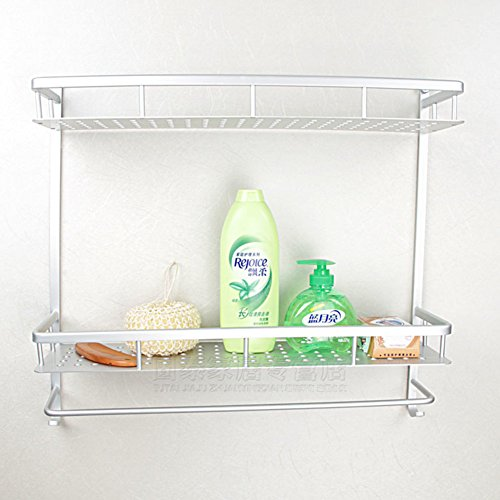 60%OFF Double space aluminium racks/Bathroom racks/Shelf of cosmetics-B