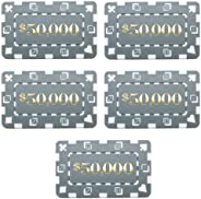 """Brybelly Pack of 5 Denominated 3"""" x 1.75"""" European-Style Pok"""