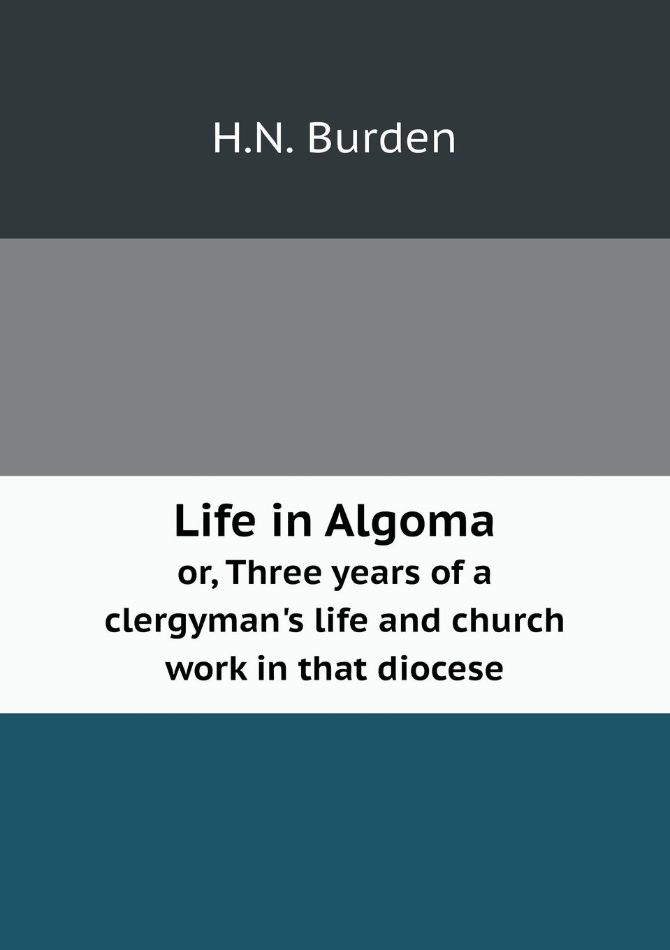 Download Life in Algoma or, Three years of a clergyman's life and church work in that diocese pdf