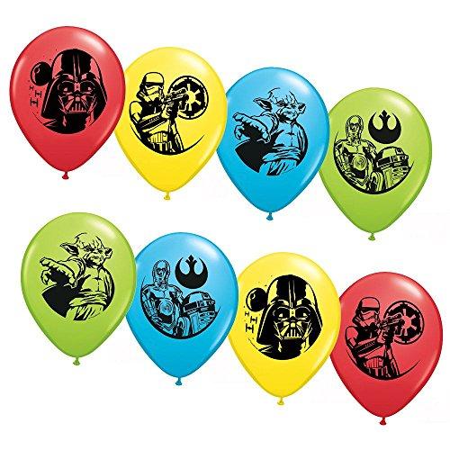 Star Wars Asst. 1234; Latex Balloons (6 Pack) - Party Supplies