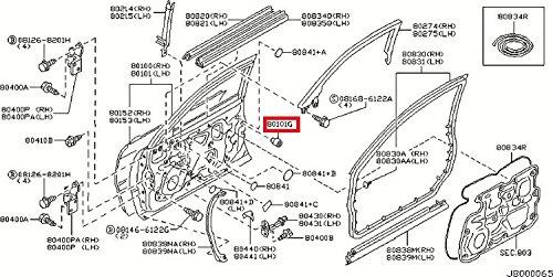 Genuine Nissan Bumper 80896-AR010