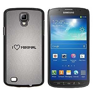LECELL--Funda protectora / Cubierta / Piel For Samsung Galaxy S4 Active i9295 -- Amo Mínimo --
