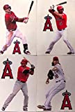 "Anaheim Los Angeles Angels FATHEAD Set of 8 Graphics - 4 Players and 4 Angels Logo - Official MLB Vinyl Wall Graphics - Each Player 7"" INCH"