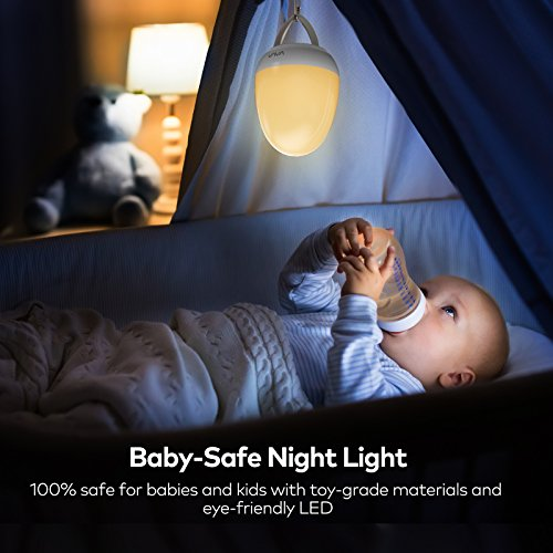 Night Lights for Kids, VAVA Baby Night Light, Bedside Lamp for Breastfeeding, ABS+PP, Adjustable Brightness & Color, SOS Mode, Touch Control, Timer Setting