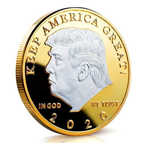 Keep America Great Challenge Coin - Donald Trump 2020 Two Tone Silver on Gold Plated in The Commemorative Collectors Edition Series - Stunning Proof Like Coins