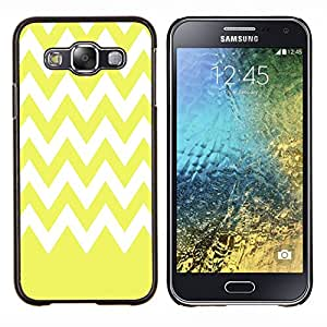 Dragon Case - FOR Samsung Galaxy E5 E500 - Yellow with white waves - Caja protectora de pl??stico duro de la cubierta Dise?¡Ào Slim Fit
