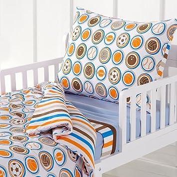 Amazon Com Mod Sports Toddler Bedding Set Sports Bedding Sets