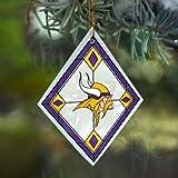 NFL Minnesota Vikings Art Glass Ornament