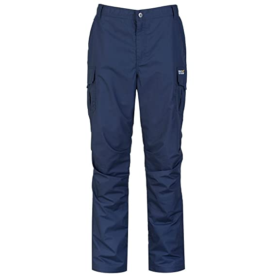 Regatta Hardwear Mens Workline Trousers TRJ336 Iron/Black Zalr34yz