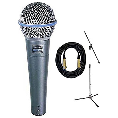 Shure Beta 58A Microphone w/Free Mic Boom Stand and 20' XLR Cable by Shure