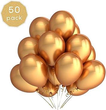 KATELUO Globos Metalizados,50-Pack Globos de cumpleaños Globos ...
