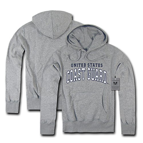 Grey Military Fleece Pullover Hoodies (Coast Guard - Heather Gray, Medium) Army Grey Hooded Pullover Sweatshirt
