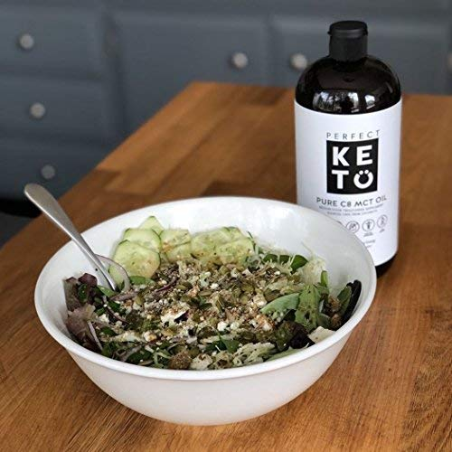 Perfect Keto Oil: Acid Coconut Fat Source. Best as Ketogenic Diet Low for Brain