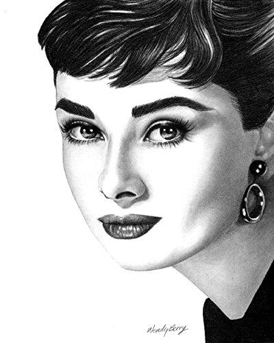 Audrey Hepburn, Vintage Hollywood, 8x10 Art Print by Wendy H