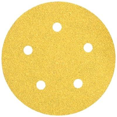 Mirka 23-614-060 5-inch 5-Hole 60-Grit Dustless Hook & Loop Sanding Discs - 50-Pack