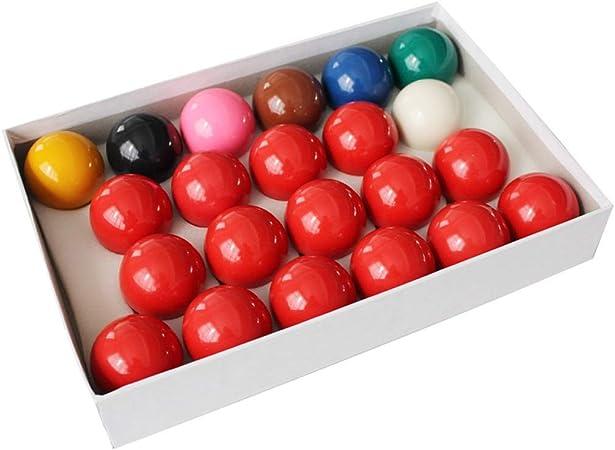 WXS Bolas de Billar, Resina 2 1/16 Pulgadas Bolas de Mesa de Billar Rojo y Amarillo Tamaño Completo Reino Unido Set-Conjunto de Estilo de Pub: Amazon.es: Deportes y aire libre