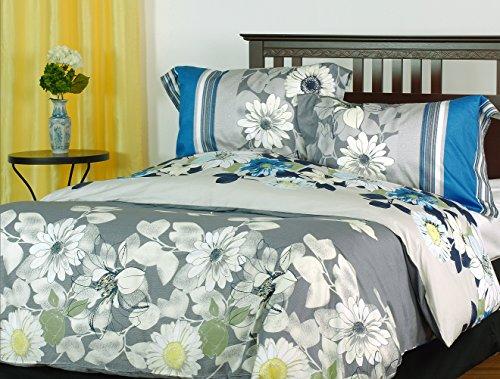 Rosewood 3-piece reversible duvet cover set, Queen, flora...