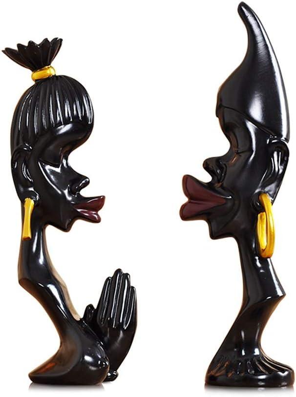 WJMLS 装飾工芸現代のミニマリストのホームファッションクリエイティブセラミックフィギュア(2点セット)