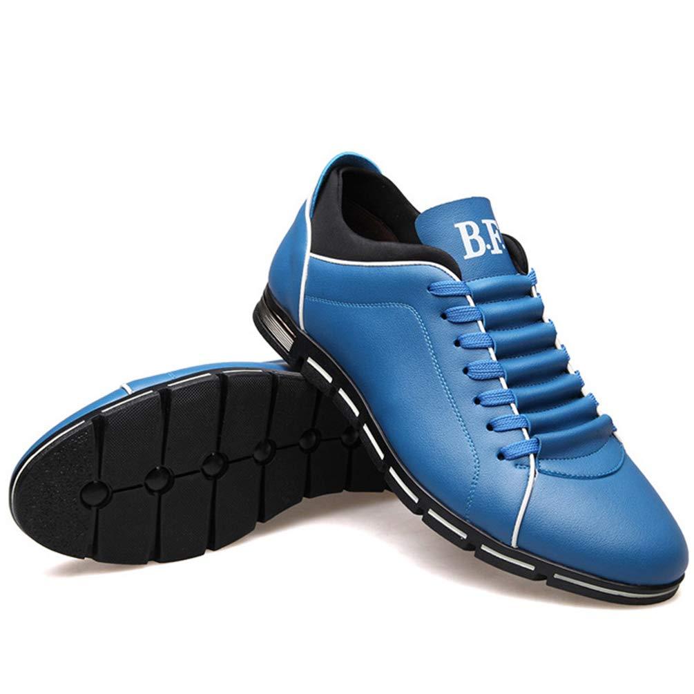 Männer Business Shoes Fashion Männer Leder Casual B075R7DHFT Schuhe Outdoor  Soft 14369 Flats Blau 756061c 2cdc041328