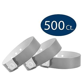 7c9f37b73601 wristco plata pulseras de vinilo, color plata 500 Count: Amazon.es ...