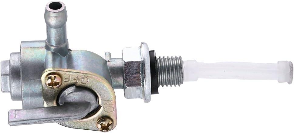 robinet de r/éservoir dhuile Petcock de pompe de soupape de commutateur de carburant de r/éservoir dessence M10 Commutateur de carburant 1.25