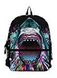 Mojo Backpacks Shark Burst Bag Accessory School Multicoloured Animal by Mojo Backpacks