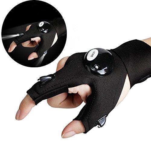 7TECH LED Work Glove Flashlight Fishing Glove Multipurpose for Repairing Camping in Dark Place