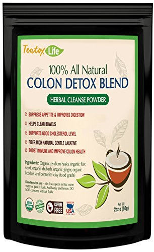 Slim Unwavering Colon Detox powder, colonic detoxifier for flat stomach detox, promote 14 or 28 day weight loss | Made in USA| USDA Certified