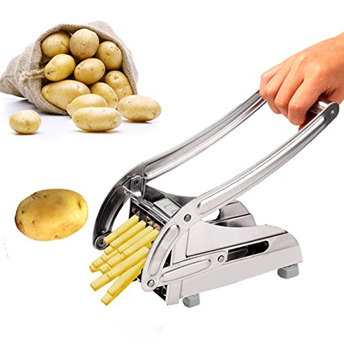 Balanu French Fry Cutter - Potato Slicer With 2 Interchangeable Blades For Vegetables and Fruit (Potato/Onion/Cucumber/Apple) by Balanu
