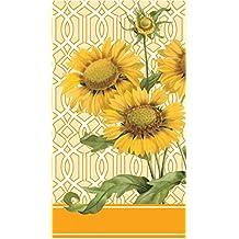 Caskata Studio 16-Count 3-Ply Paper Guest Towel Napkins, Trellis Sunflower