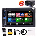 Eincar 6.2 inch 5 Points Capacitive Multimedia Touch Screen Double Din Car Stereo with Built-in GPS Navigation Bluetooth DVD/CD 1080P Video Playing USB/microSD Ports FM/AM/RDS Radio SWC Subwoofer