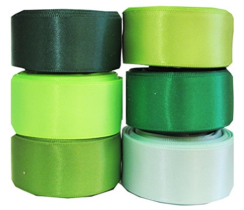 Green Ribbon for Crafts - Hipgirl 30 Yards 7/8