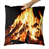 Westlake Art - Outdoor Fireplace - Decorative Throw Pillow Cushion - Picture Photography Artwork Home Decor Living Room - 18x18 Inch (BF99-E67E9)