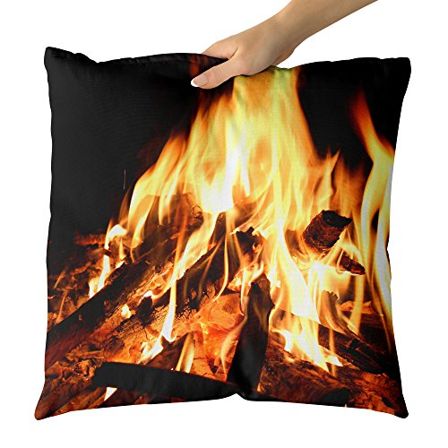Westlake Art - Outdoor Fireplace - Decorative Throw Pillow Cushion - Picture Photography Artwork Home Decor Living Room - 18x18 Inch (BF99-E67E9) by Westlake Art
