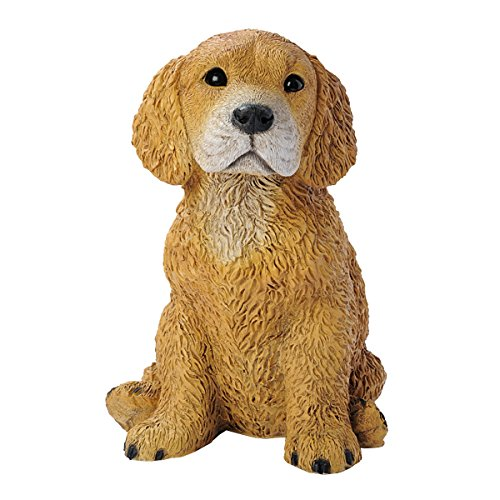 Golden Statue - Design Toscano Golden Retriever Puppy Dog Statue, Multicolored