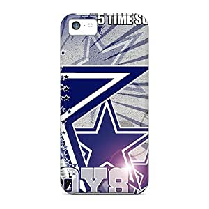 New Tpu Hard Case Premium Iphone 5c Skin Case Cover(dallas Cowboys)