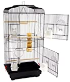 San Pablo Large Double Door Bird Cage With Swing